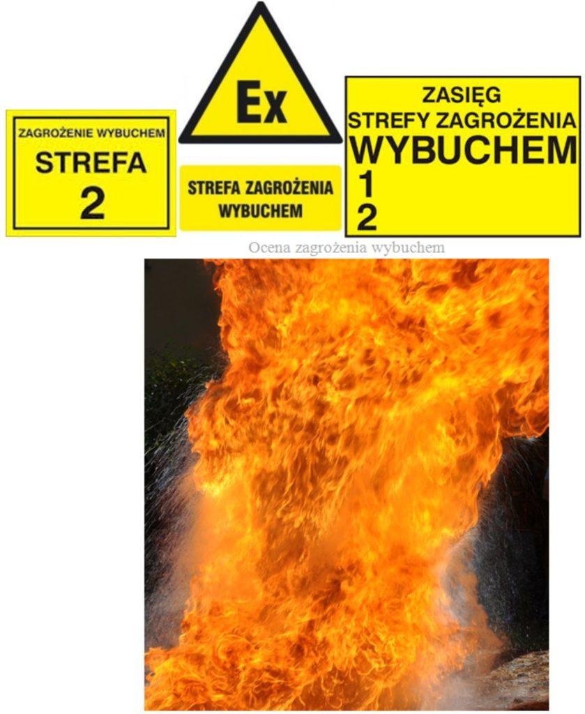 Ocena zagrożenia wybuchem - znaki strefy zagrożenia wybuchem