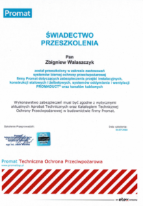 Certyfikat 3203