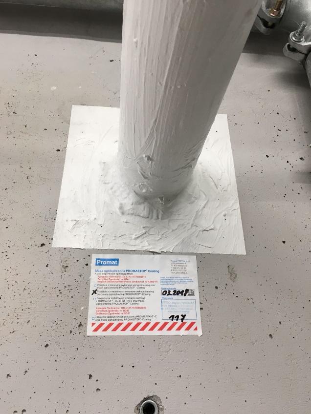 Powyżej instalacje zabezpieczone przy pomocy Promastop Coating E
