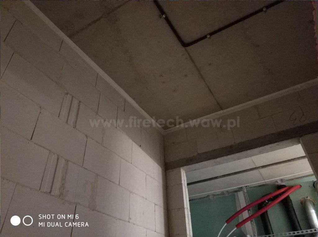 Zabezpieczenie dylatacji na styku ściana strop