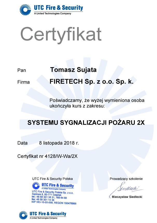 Certyfikat Firetech