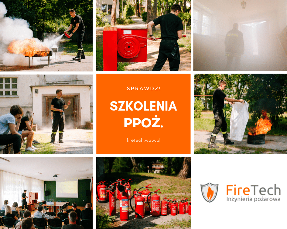 Szkolenia przeciwpożarowe organizowane przez Firetech w języku polskim i angielskim