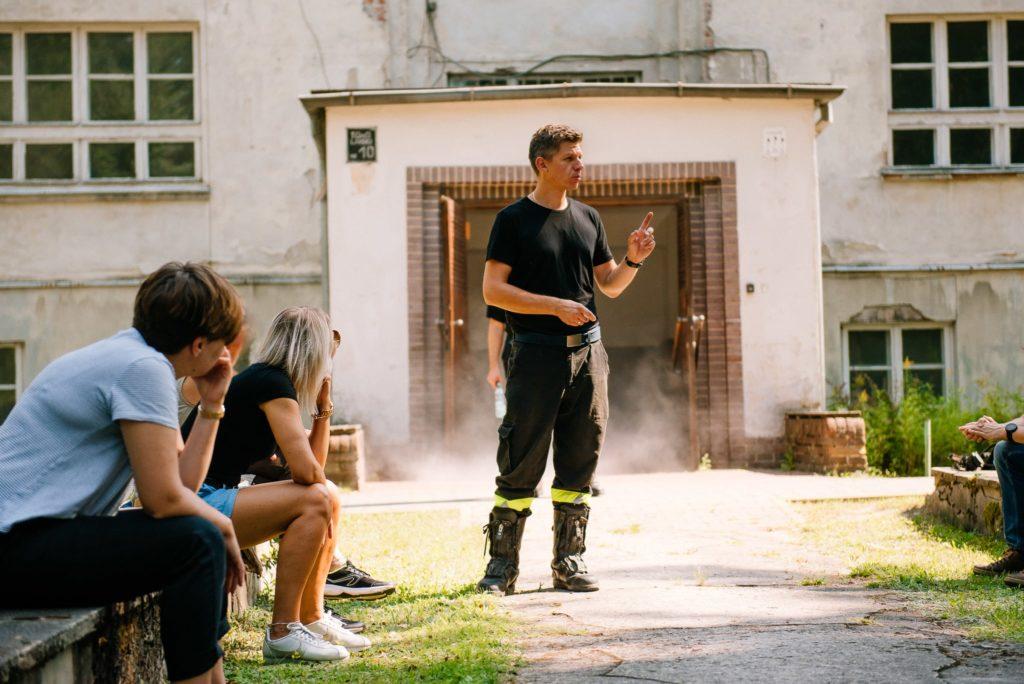 Szkolenie przeciwpożarowe - symulowany pożar