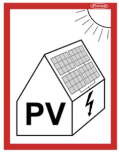 Znak fotowoltaika - PN-EN 60364-7-712