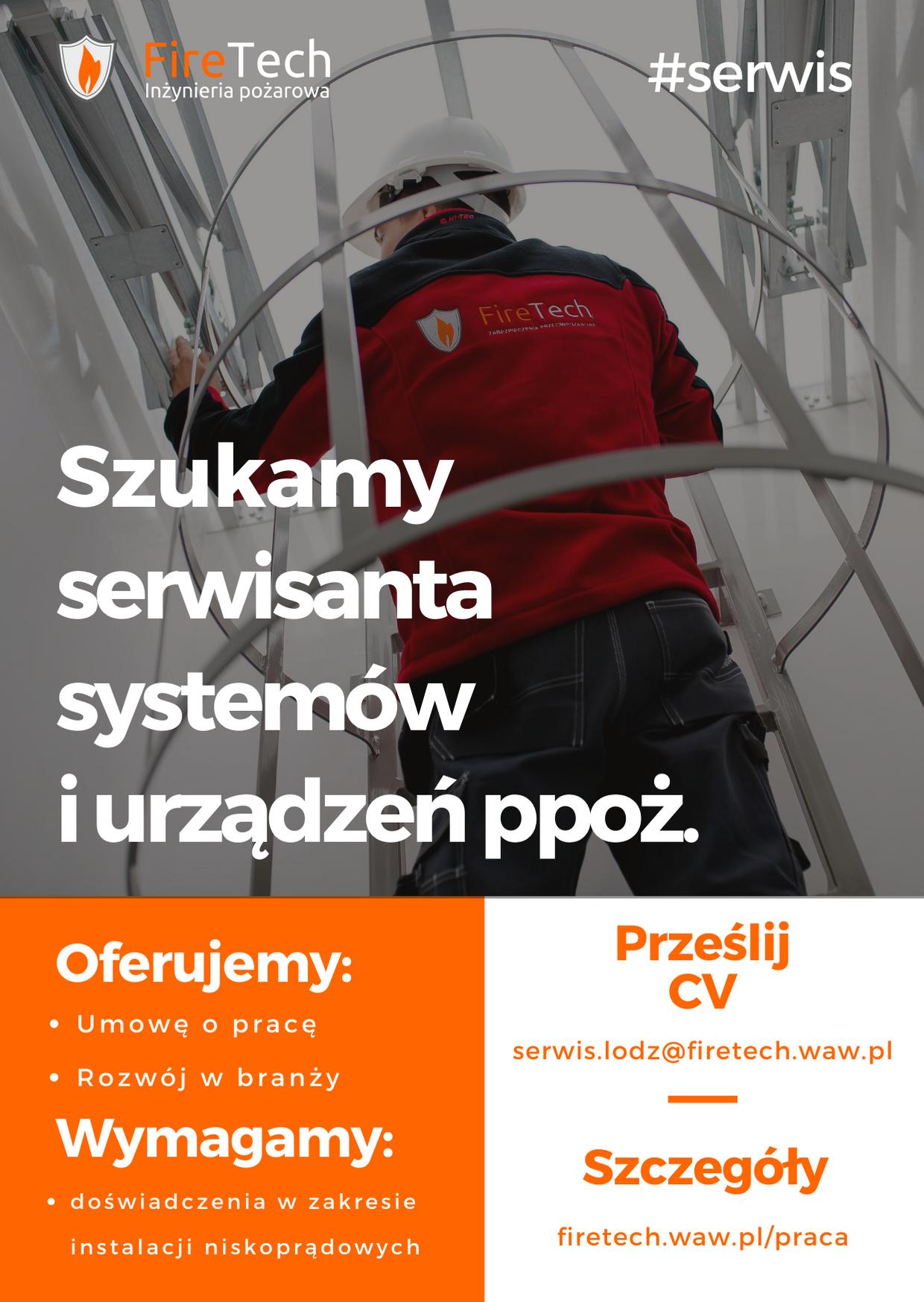 Praca w serwisie ppoż. Łódź