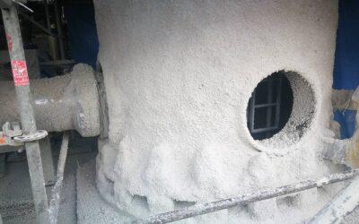Natrysk ogniochronny na konstrukcji stalowej zabezpieczanej do klasy R120. Konstrukcja narażona na działanie pożaru węglowodorowego.