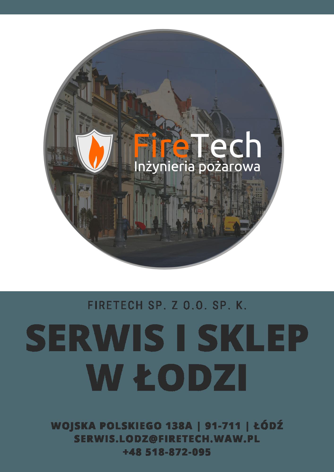 Serwis i sklep ppoż. w Łodzi